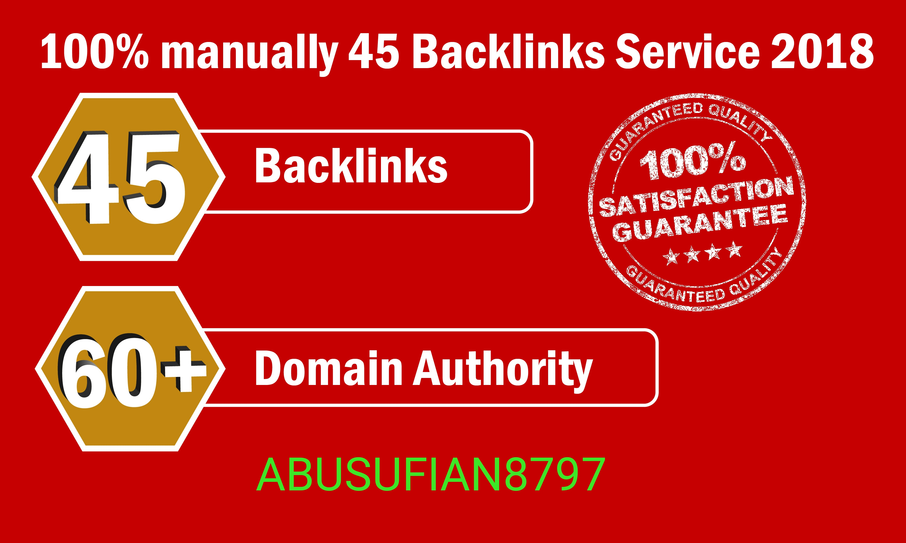 Manually 45 Backlinks Service fast working