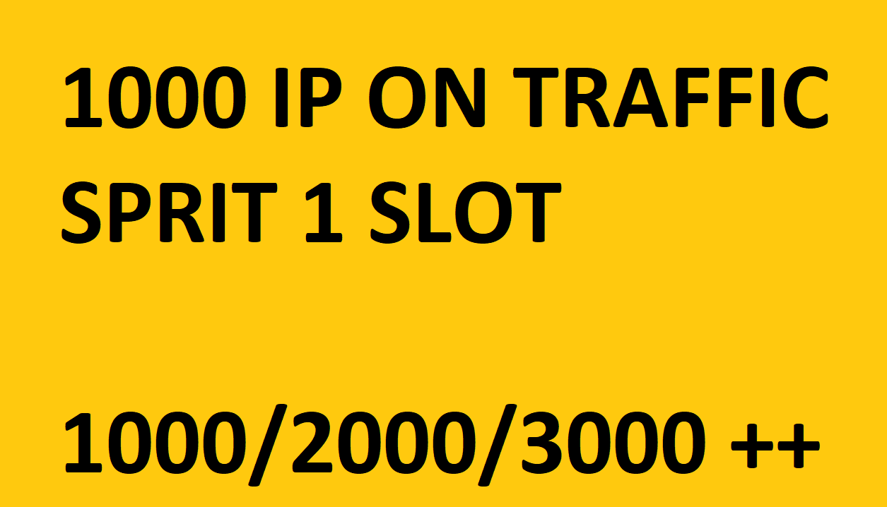 I will give you 1000 IP on my Traffic slot