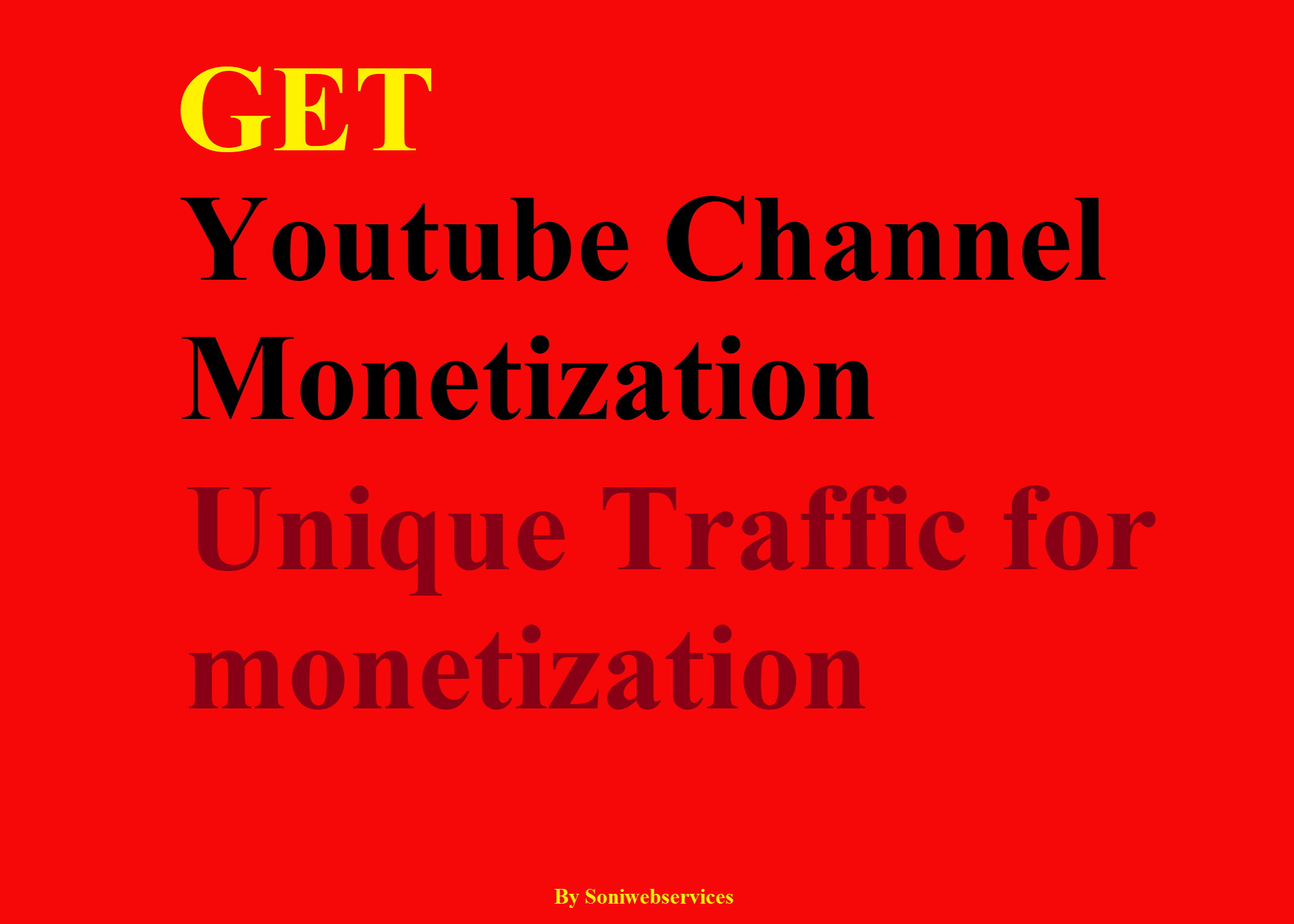 Get Youtube Monetization with real traffic