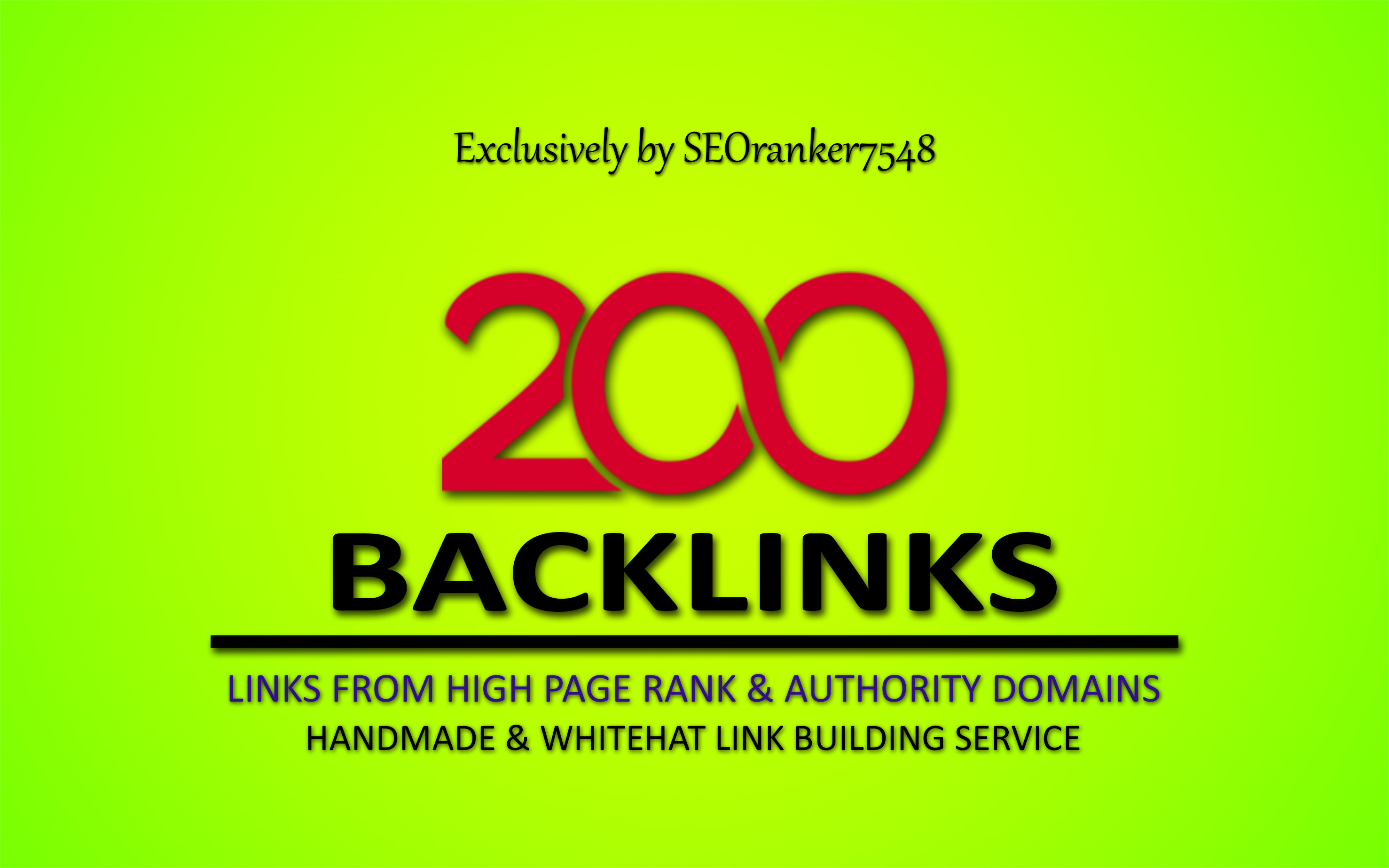 200 Pr9 High Authority Backlinks
