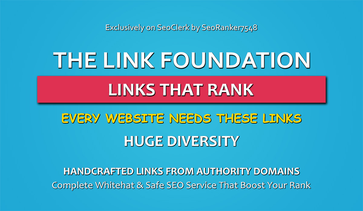 The Link Foundation - Complete Whitehat Authority Link Building Service