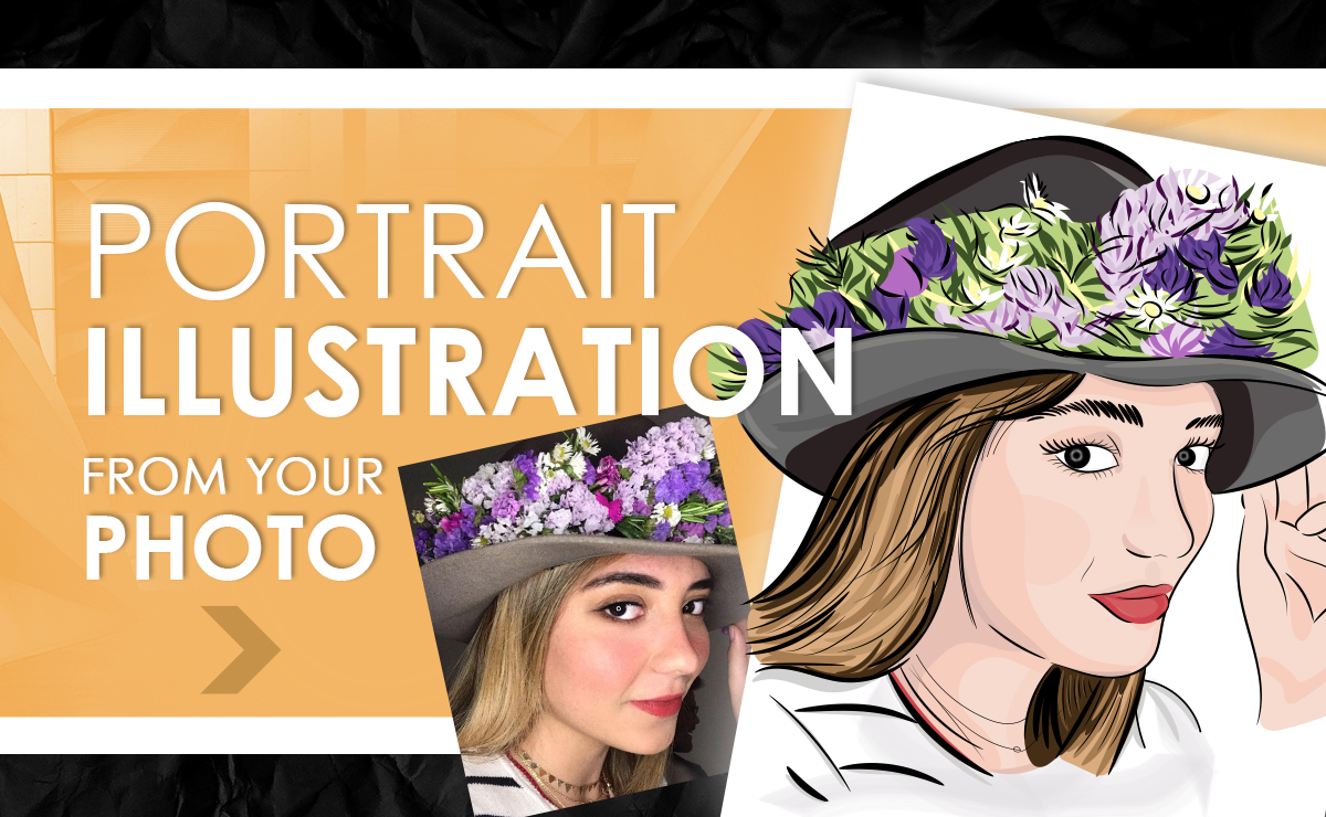 I will draw line art or vector portrait from your photo