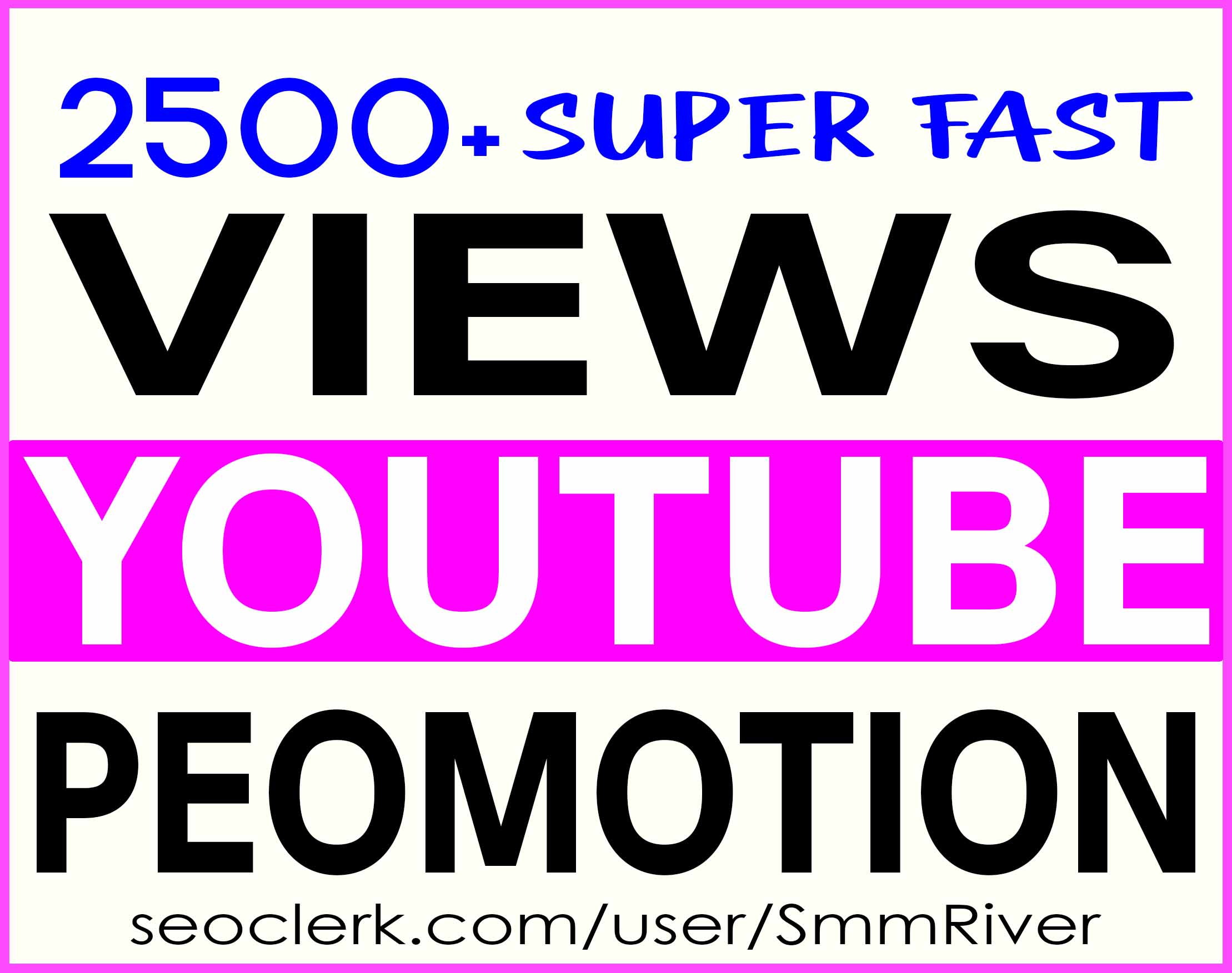 YOUTUBE VIDEO PROMOTION NON DROP & IMPROVE VIDEO RANKING