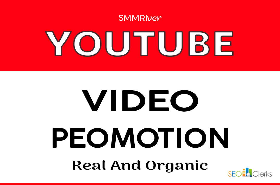 YOUTUBE VIDEO PROMOTION AND SOCIAL MARKETING WITH REAL AUDIENCE
