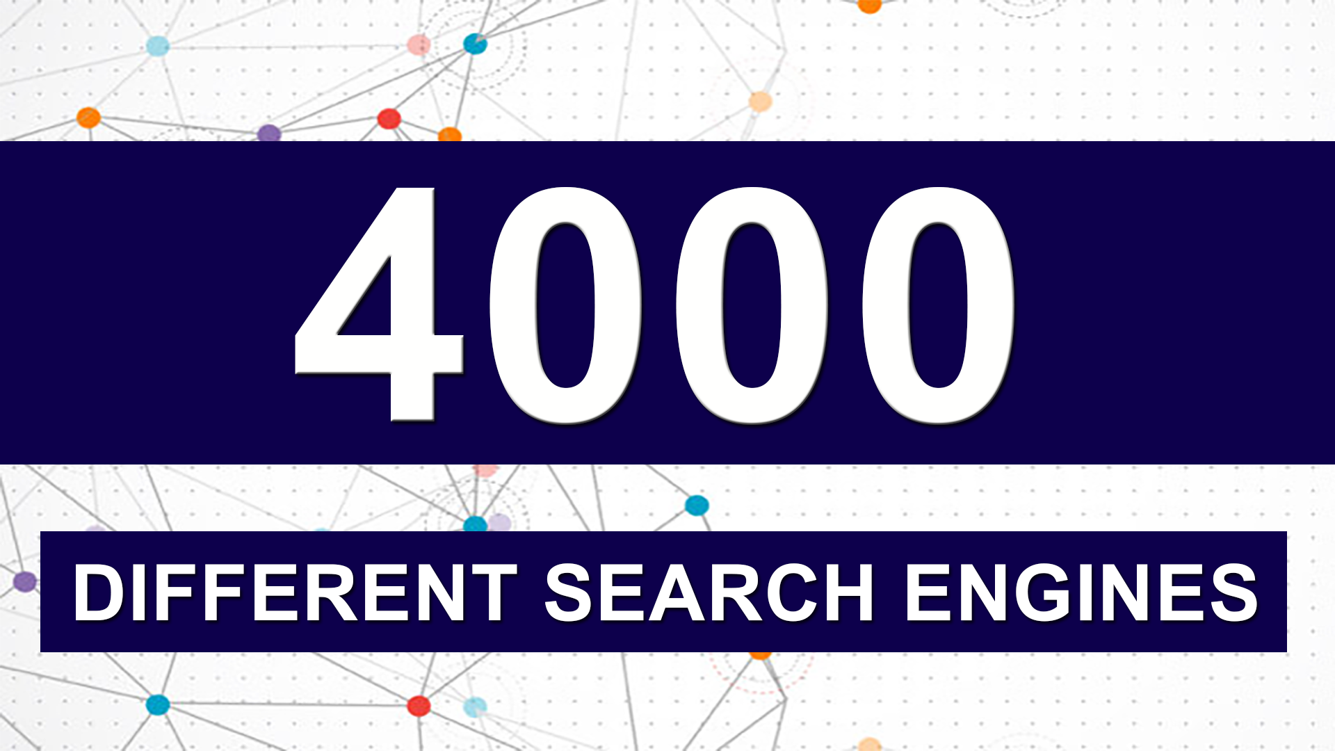 Submit your site to over 4000 different search engines and fast indexing