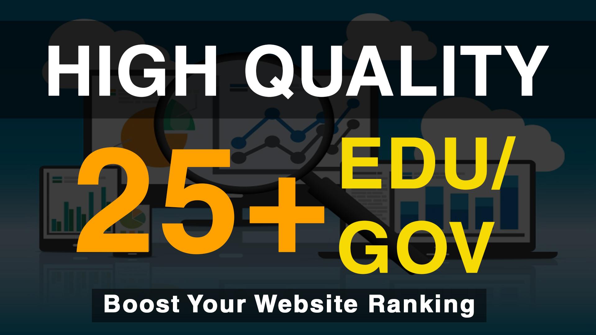 Add 25+ Edu/Gov High Quality Profile Backlinks within a day