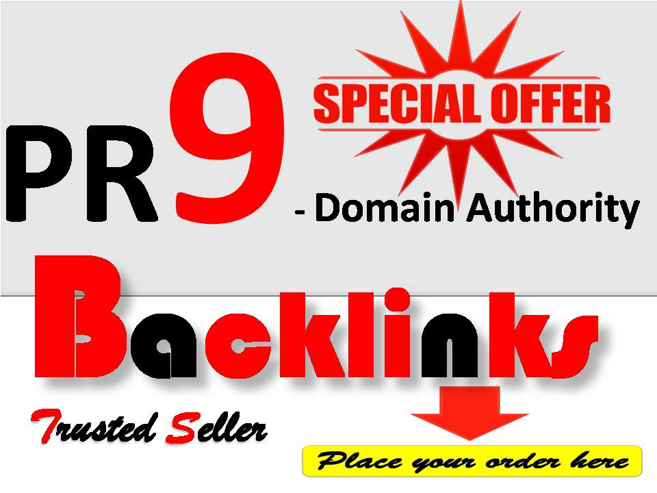 Get Rank with 75 + PR9 - Domain Authority Backlinks