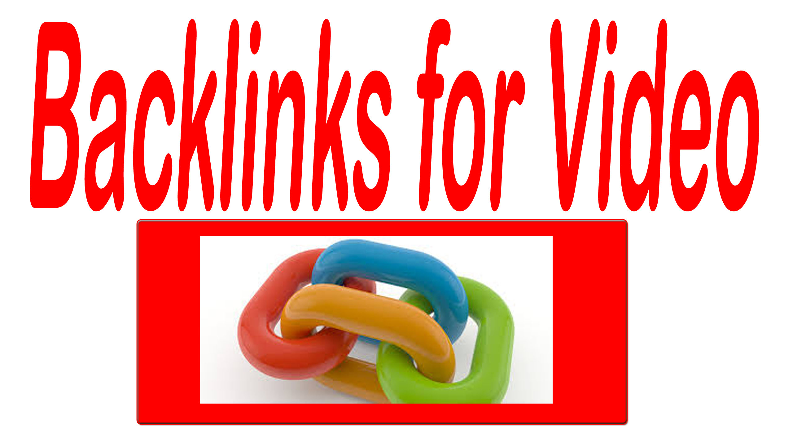 Get 2000 organic traffic for your video with killer Backlinks