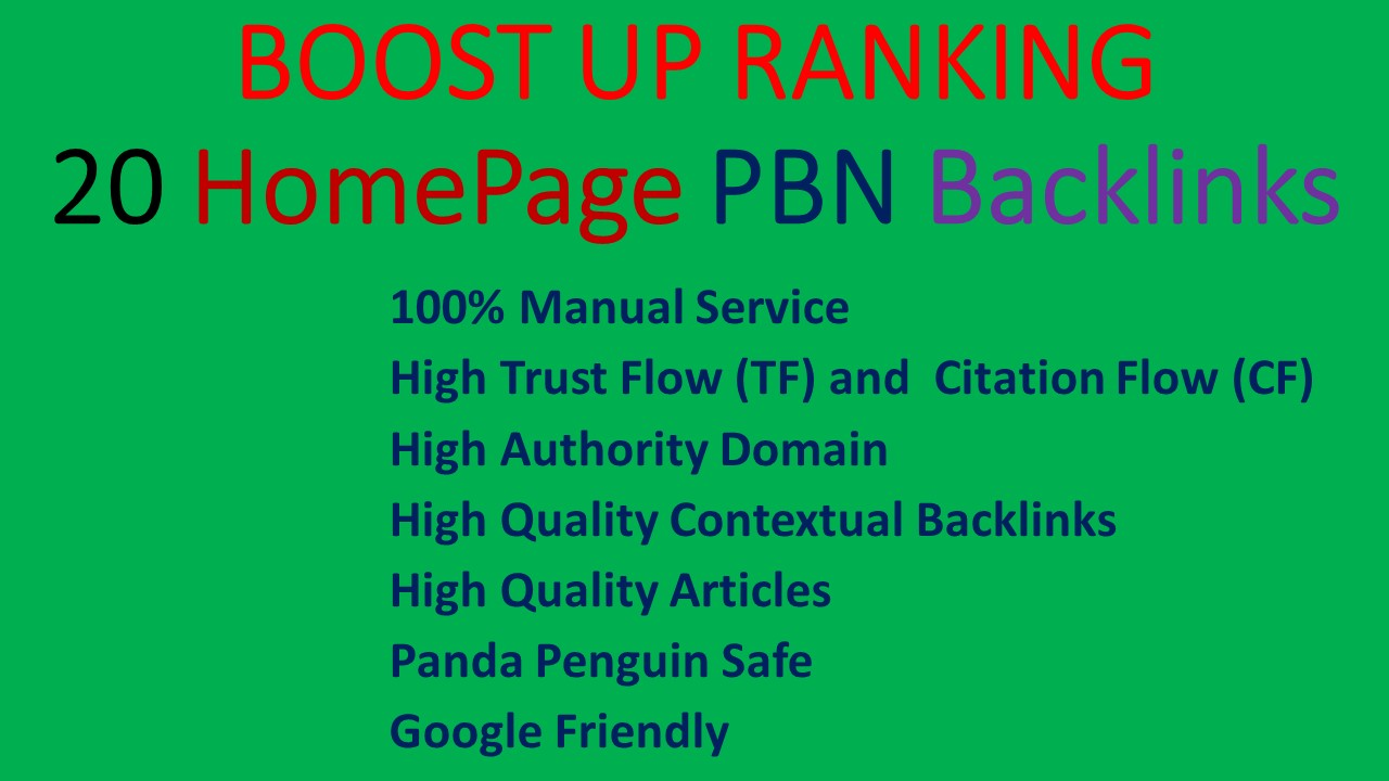 Create Manually Permanent Homepage PBN Links with 3000 2nd Tier Backlinks