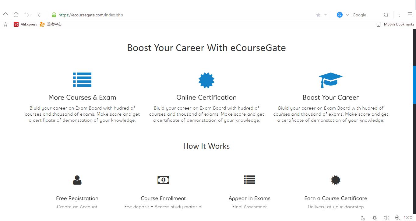Earn Free Certificate PHP website Script