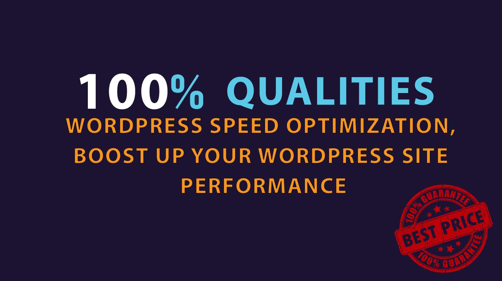Wordpress Speed Optimization - Guaranteed Change in Download Speed