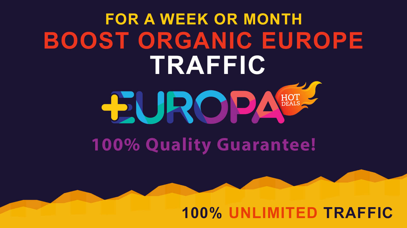 BOOST ORGANIC WEB TRAFFIC FROM EUROPA