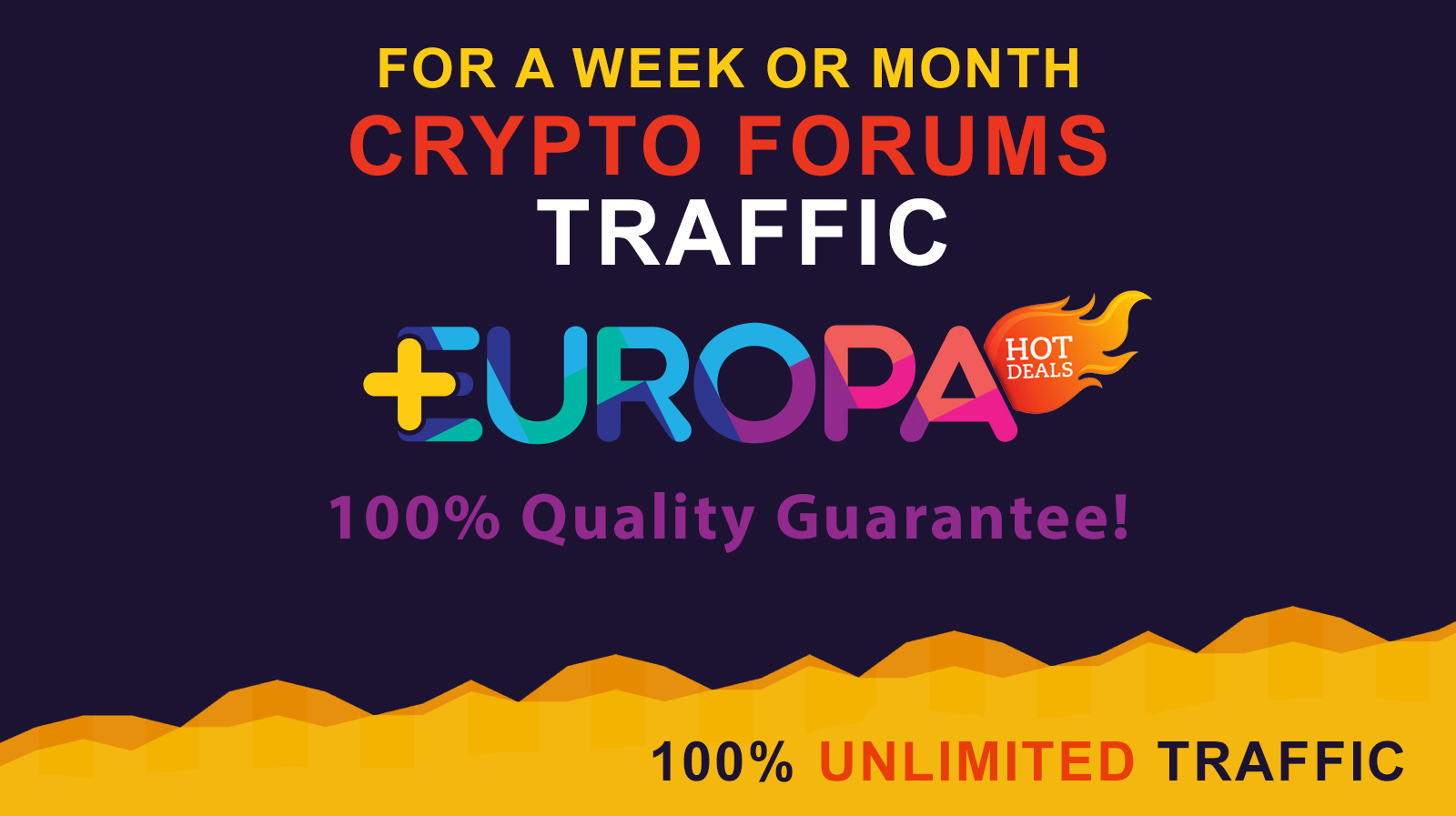 UNLIMITED CRYPTO FORUM TRAFFIC FOR A WEEK OR MONTH PLUS BONUS
