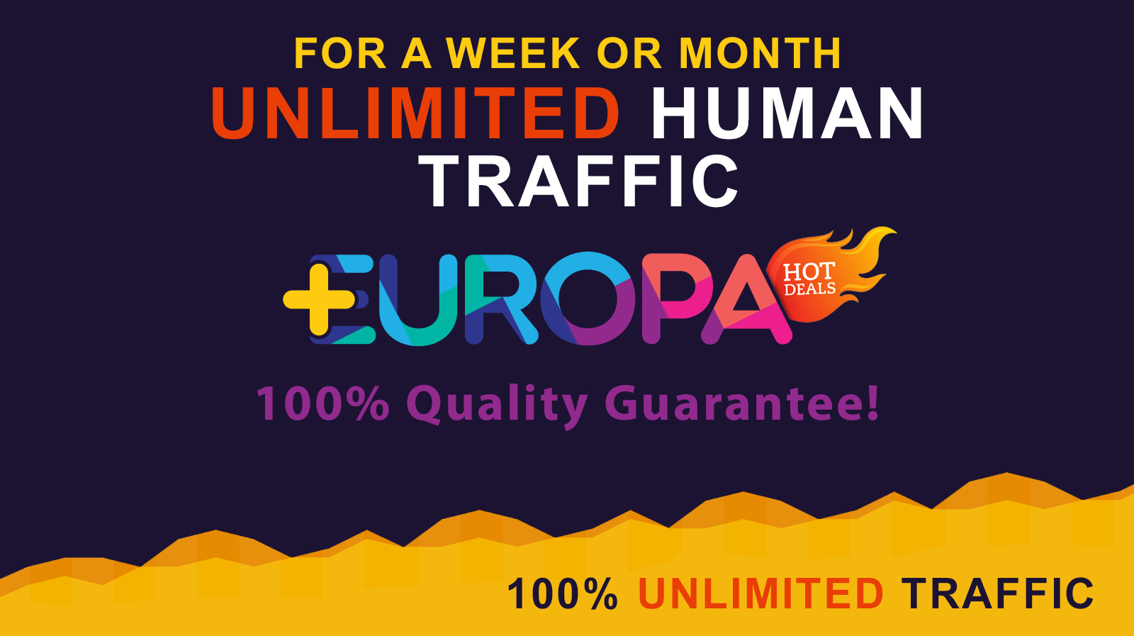 UNLIMITED HUMAN TRAFFIC | FOR A WEEK OR MONTH | PLUS BONUS