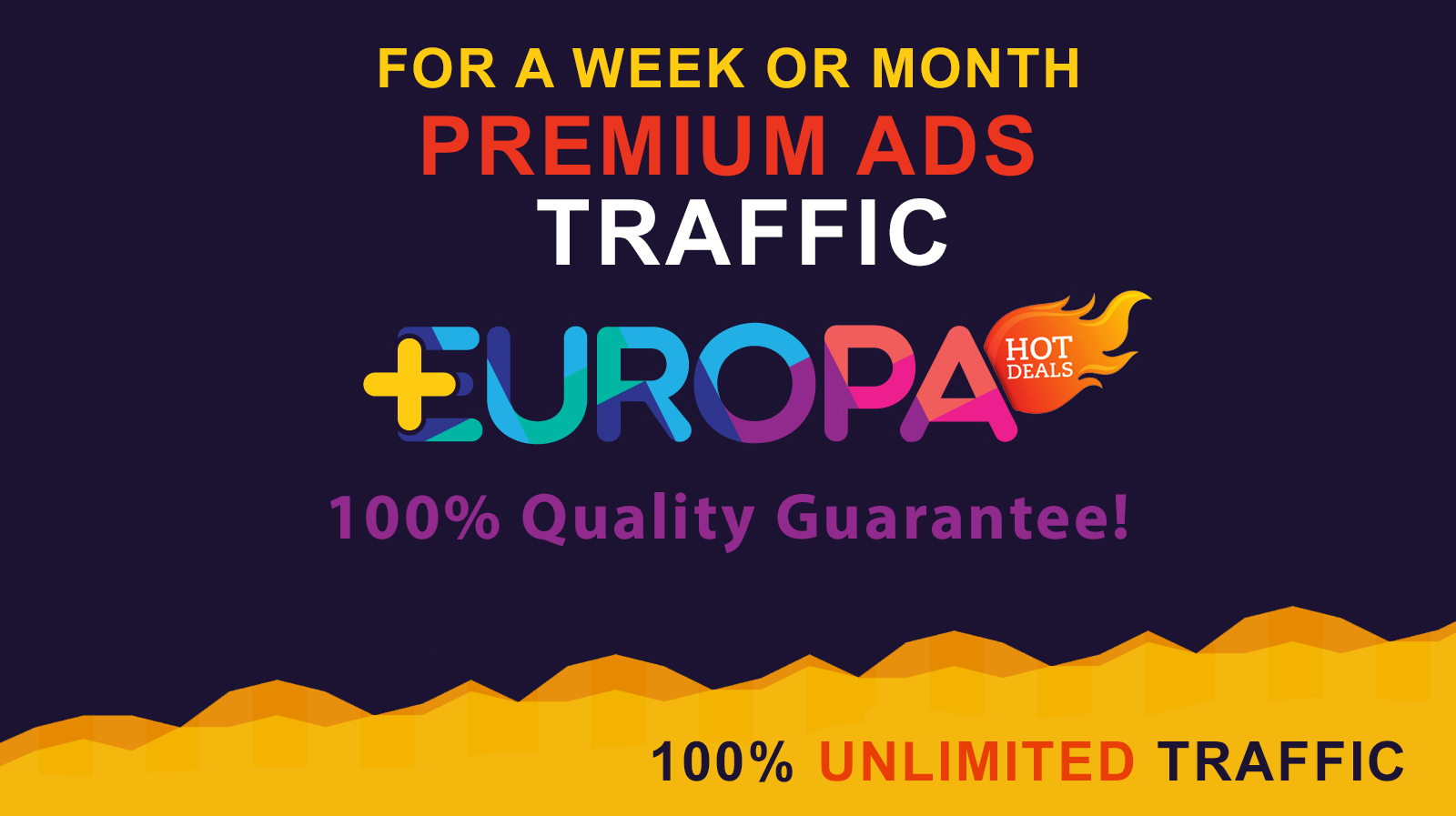 PREMIUM ADS TRAFFIC FOR A WEEK OR MONTH PLUS BONUS