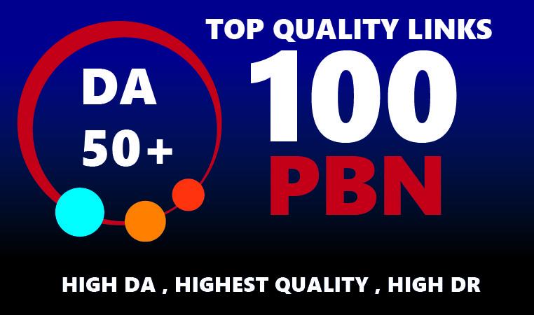 Create 100 DA50 to DA65+ Home Page PBNs Backlinks - Improve Site Google Ranking