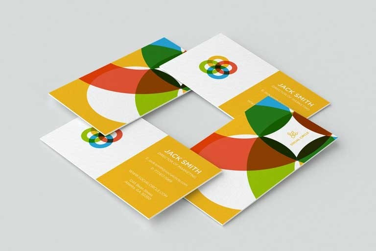 Create 2 options template bussiness card for your brand/company
