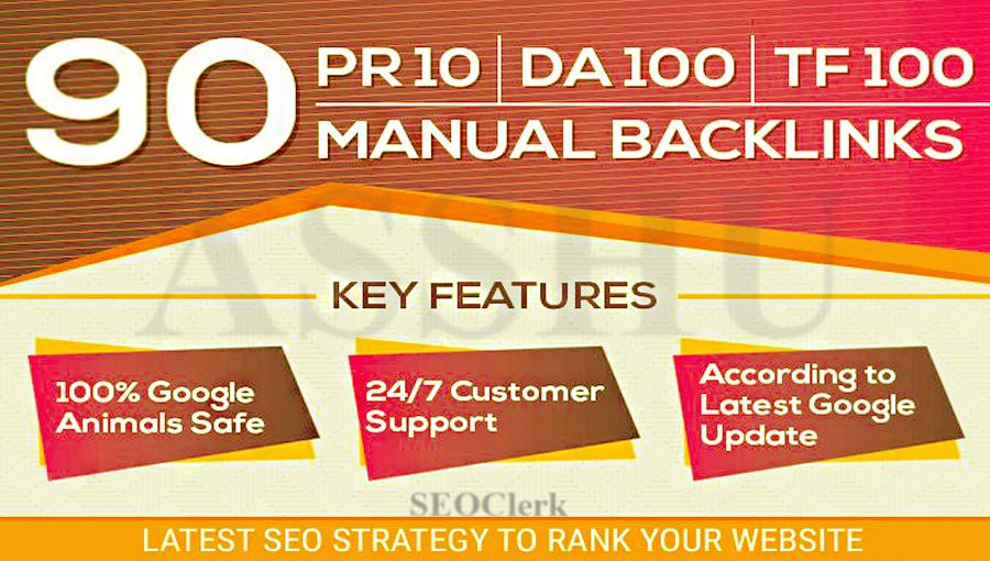 90 High Quality Authority SEO Backlinks DA100 and TF ...