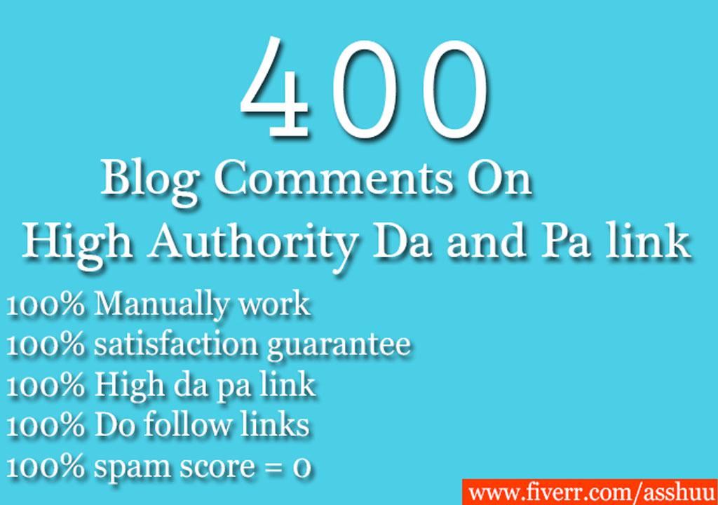 100 Unique referring domains blog comments on high da...