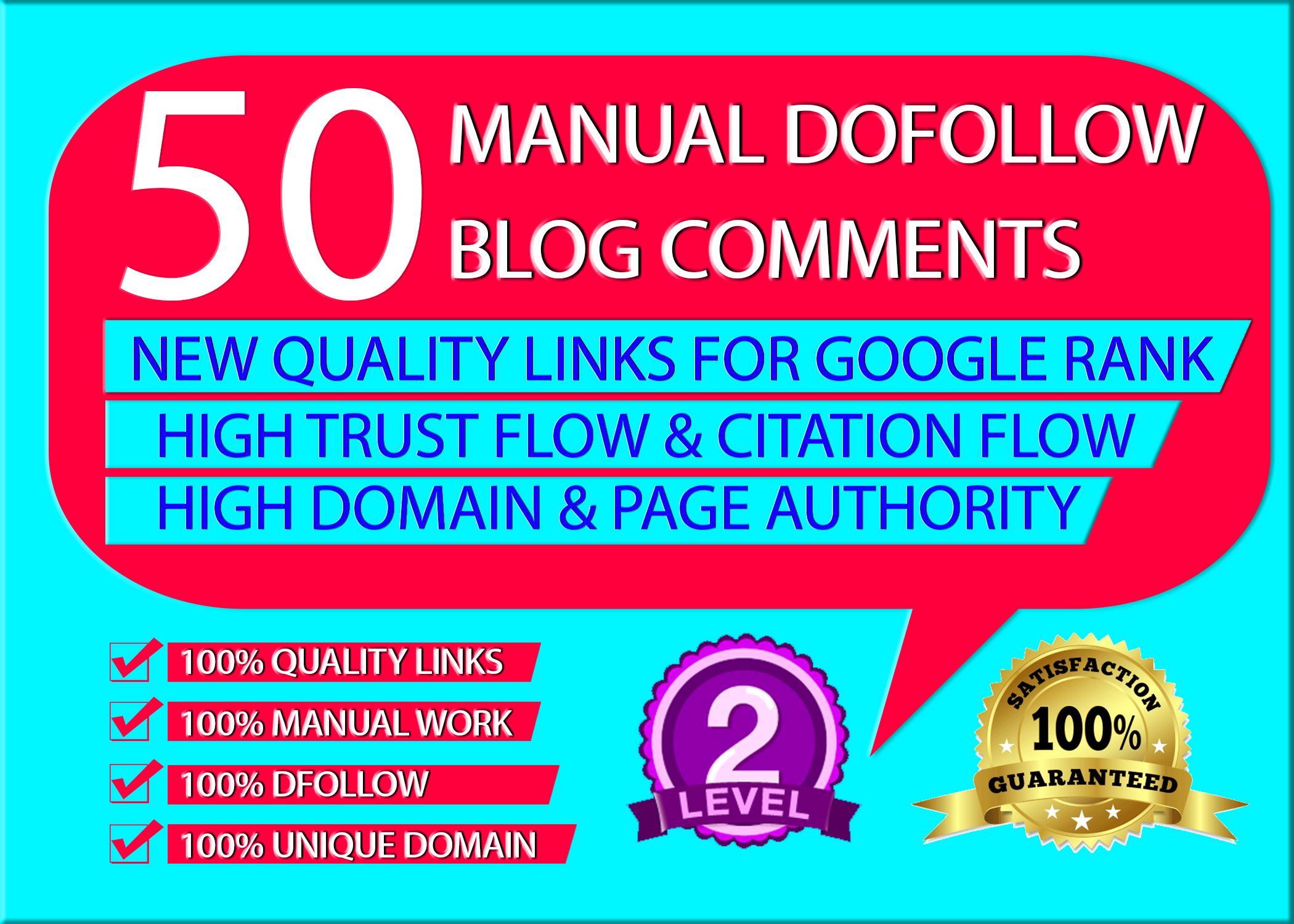 50 blog comments with UNIQUE DOMAIN.