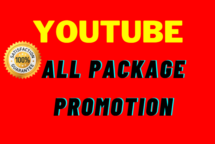 Real User And High Quality YouTube Video promotion Very Fast Completed