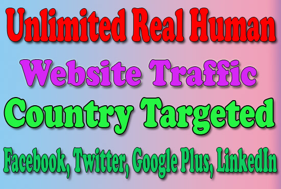 Website Traffic With Real Human Visitors, SEO For We...