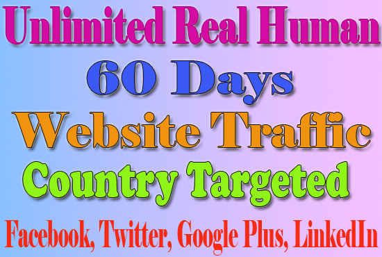 Website Traffic With Real Human Country Targeted For 60 Days