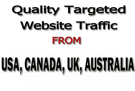 Drive Real 20,000 Web Traffic From USA,  CANADA,  UK,  AUSTRALIA