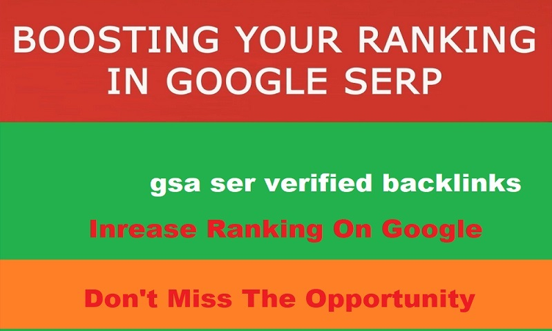 Fire up your website Ranking with 1 million gsa ser verified backlinks