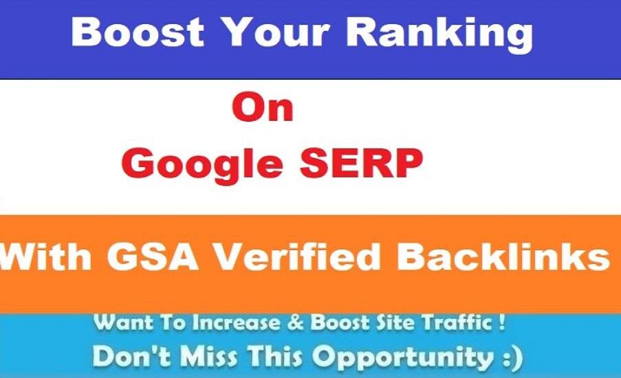 Give you 2 lakh GSA Ser SEO backlinks for website ranking