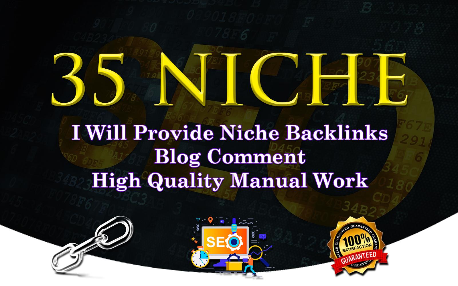 I Will Do 35 Niche Relevant Blog Comment Service.
