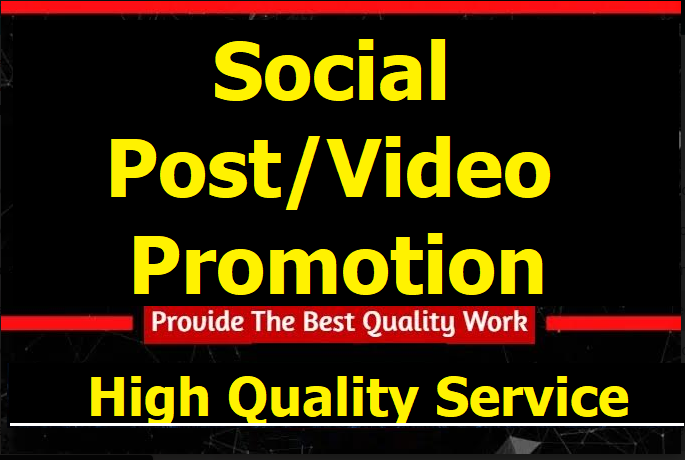 Instant Social Post Or Video Promotion Marketing