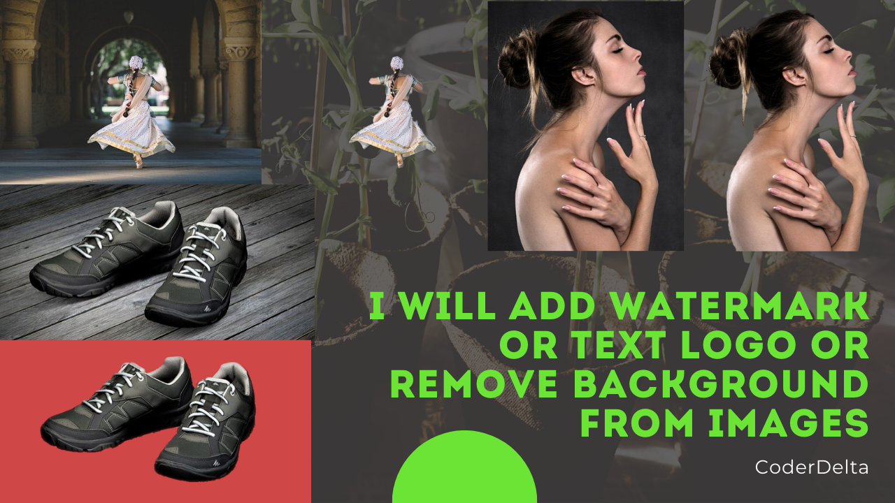 I will add watermark or remove any background from your images