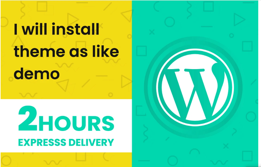 I will Install theme as Demo on Your Wordpress website within 2 Hours