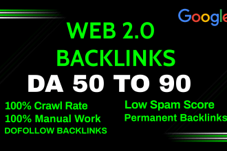 I will build 15 web 2 0 backlinks By Professional Way