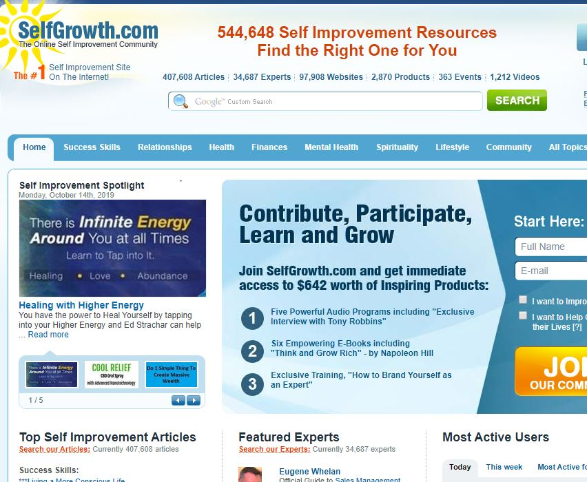 Write and Publish Guest Post On Selfgrowth. com DA65