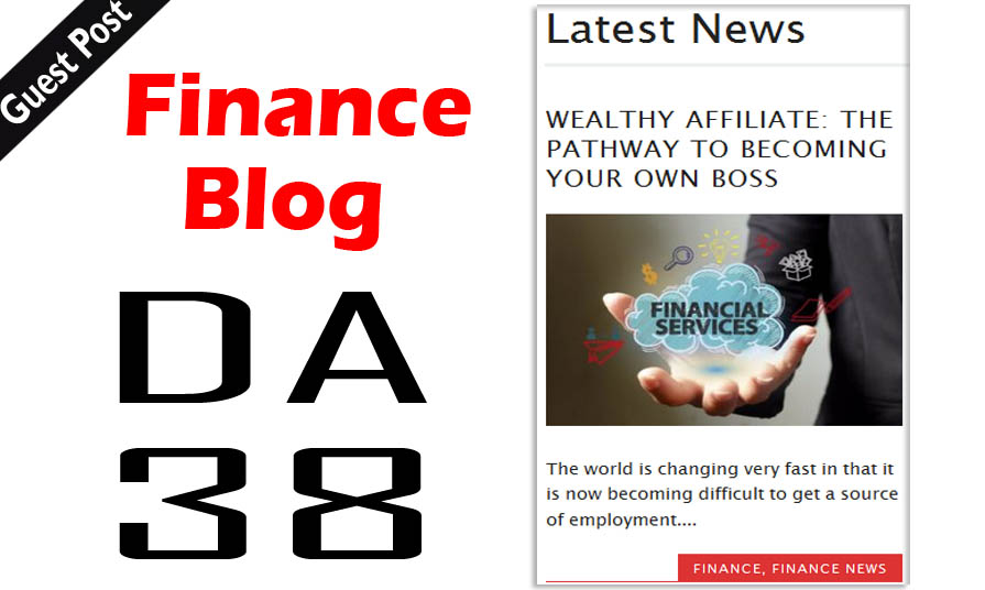 Write And Publish Dofollow Guest Post On Finance Blog...