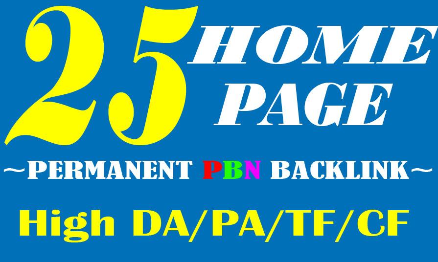 Create Manually 25 HOMEPAGE High Quality PBN SEO Back...