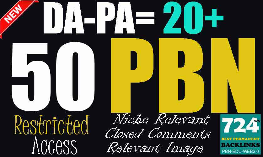 50 High PA 20-60 Restricted Access Dofollow Permanent PBN Backlinks