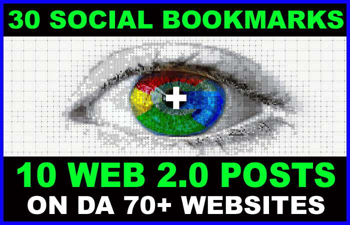 10 Web 2.0 Blog Posts on DA70+ Sites PLUS 30 Social Bookmarks