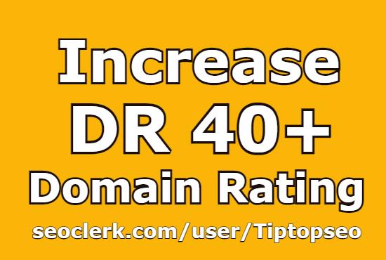 I will increase domain rating DR 40+