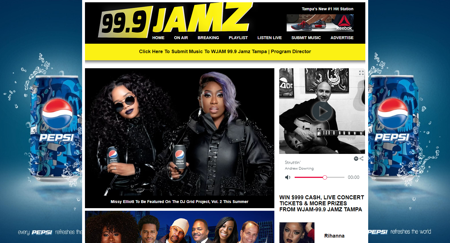 Promote Your Music On WJAM 99 JAMZ
