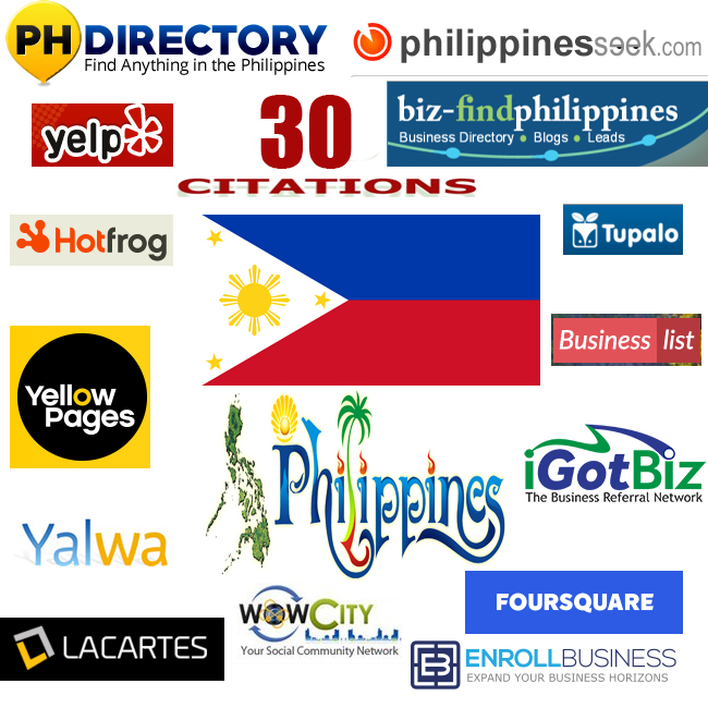 we will create 30 best philippines local citations