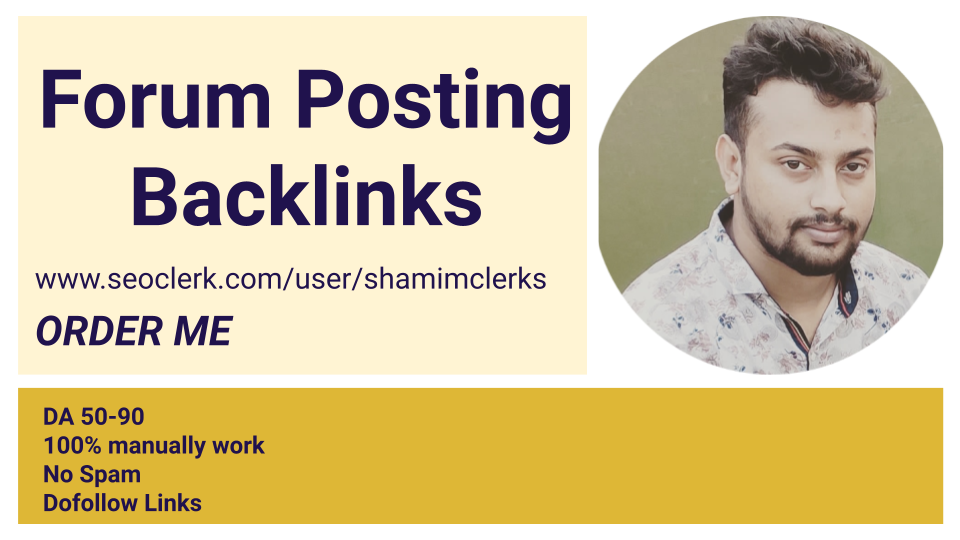 I will do 20 high da forum posting backlinks