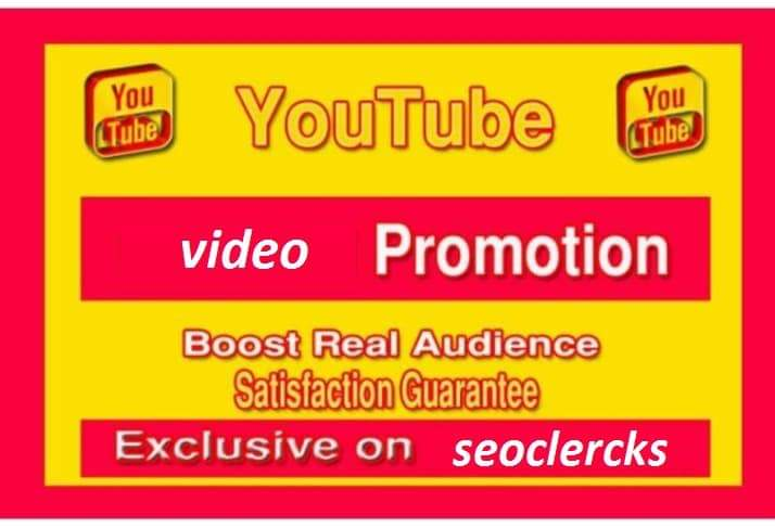 Organic YouTube real audience promotion social media marketing