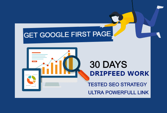 Rank Your Website on Google Top,  30 Days Drip feed SEO Backlinks Manually Work
