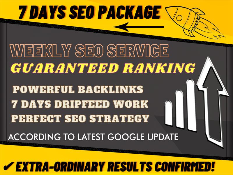 Weekly Super Booster Backlinks Package By Alicemarc12 SKYROCKET Your Money Website