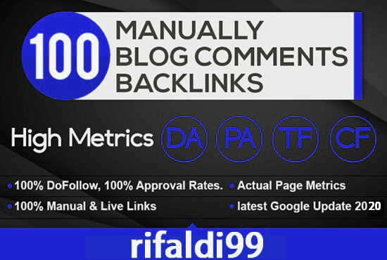 I will Create 100 Unique Dofollow Blog Comments HIGH DA PA