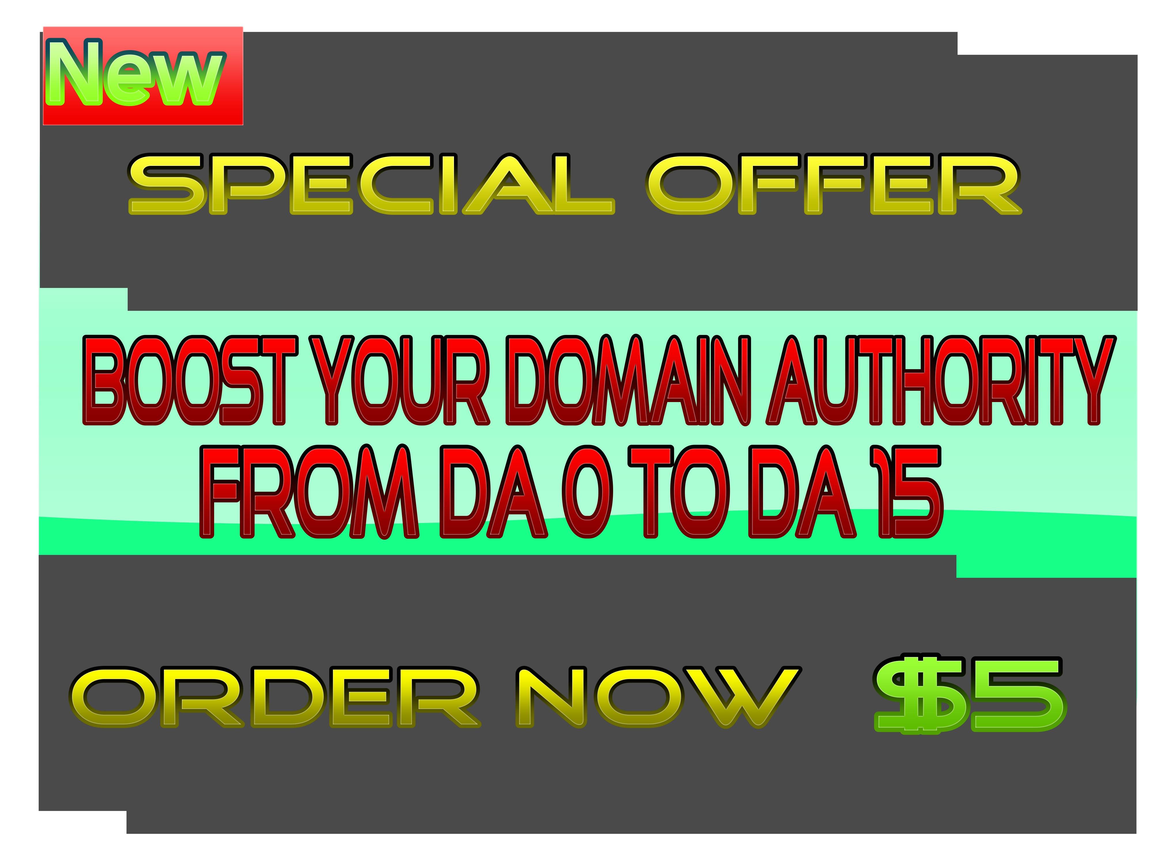 I will increase Domain Authority DA 15 in 2 Weeks