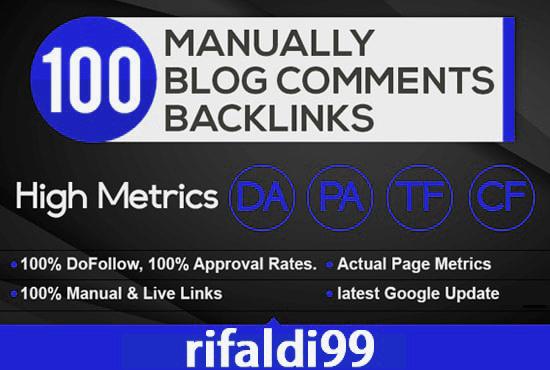 100 Dofollow Blog Comments Backlinks Spam Score 1